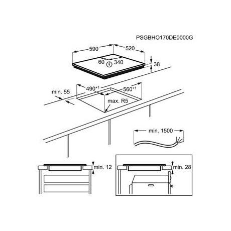 Zanussi beépíthető elektromos főzőlap