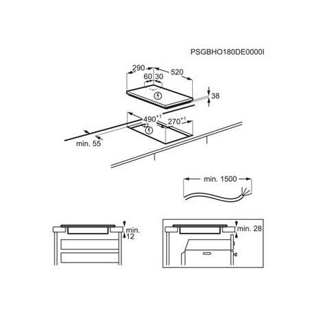 Electrolux beépíthető főzőlap 30 cm