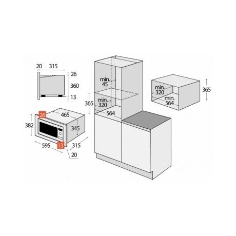Beko beépíthető mikrohullámú sütő